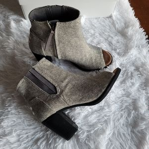 Toms Heeled Peep Toe Booties
